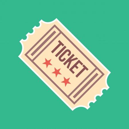 ticket stubs: Vector Vintage Ticket Icon Illustration