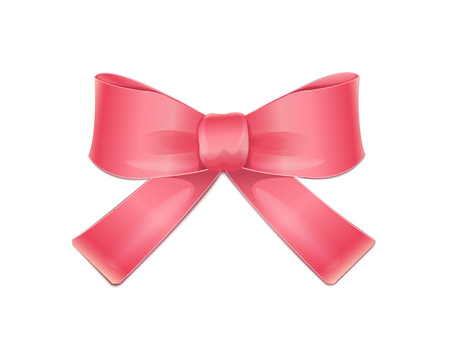 pink bow: Bow Pink  Illustration
