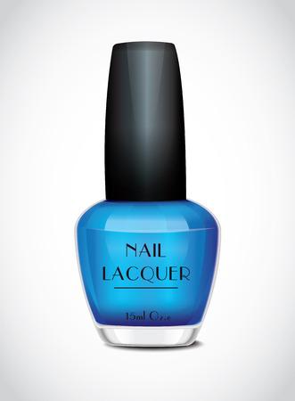 Nail Polish Blue Vector