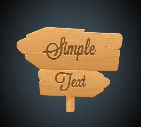Wooden Arrow Board Icon2 Vector