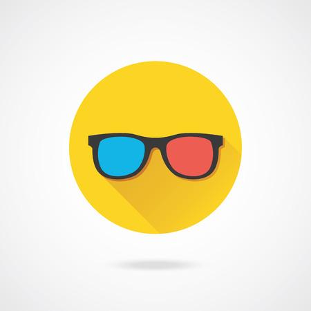 three dimensions: Vector 3d Glasses Icon
