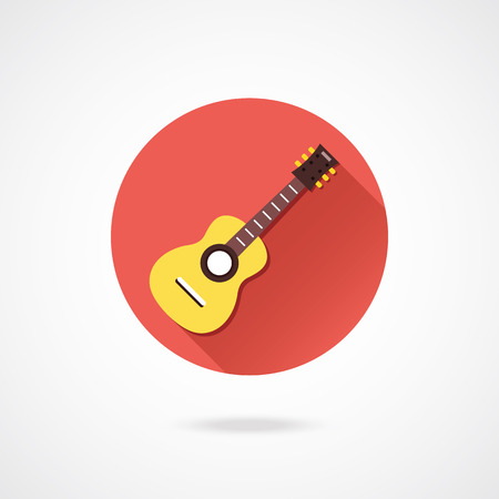 Vector Acoustic Guitar Icon Vector