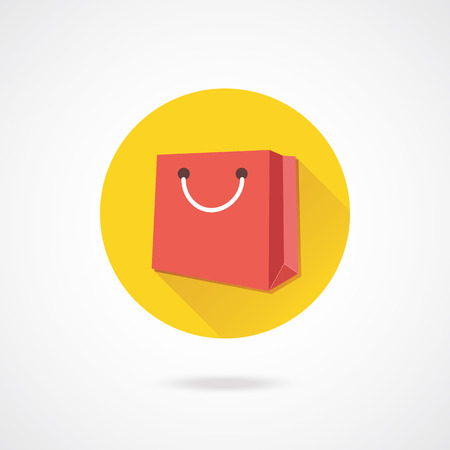 a bag with gifts: Vector Bag Icon