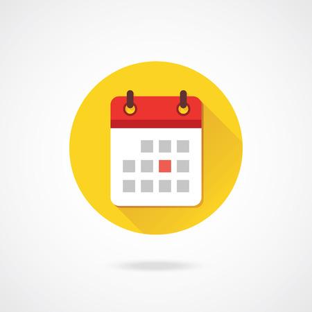 kalendarz: Wektor Kalendarz Ikona