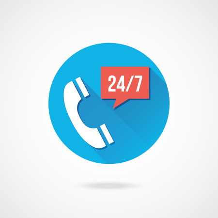 24 hour: Vector Call Service Icon
