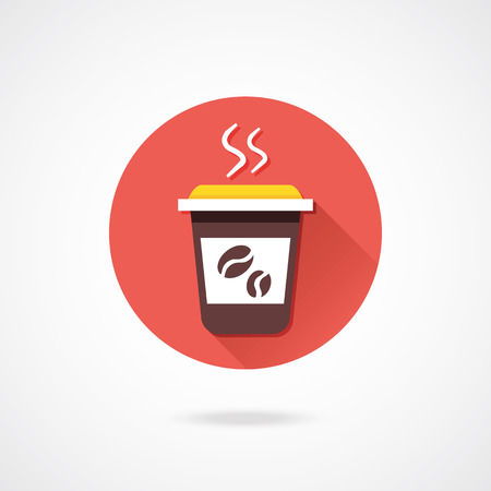 Vector Coffee Icon Stock Vector - 23159781