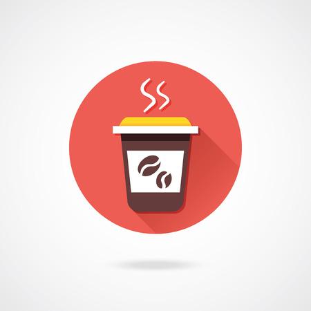 Vector Coffee Icon Stock Vector - 23159781