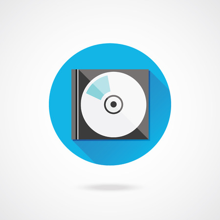 dvd case: Vector Compact Disk in Case Illustration