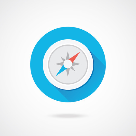 nautical compass: Vector Compass Icon  Illustration