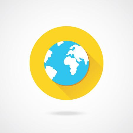 flat earth: Vector Earth Icon