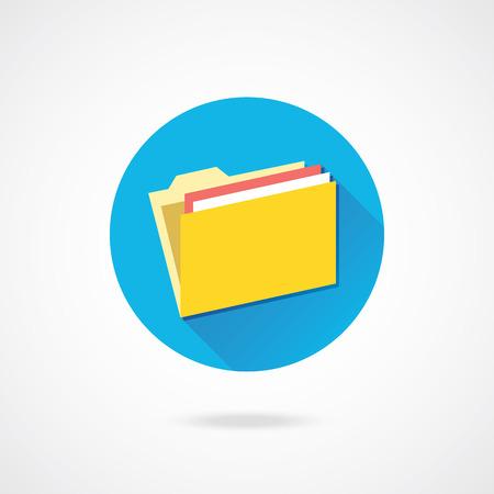 Vector Folder Icon Zdjęcie Seryjne - 23160941