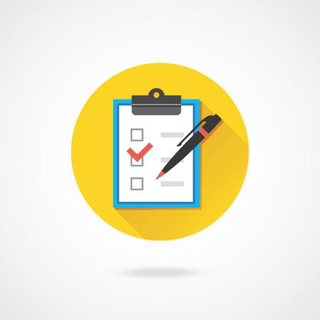 ペンとチェック ボックス アイコンのベクター形式  イラスト・ベクター素材