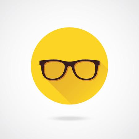 nerd: Vector Glasses Icon Illustration