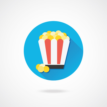 Vector Popcorn Icon Stock Vector - 23348005