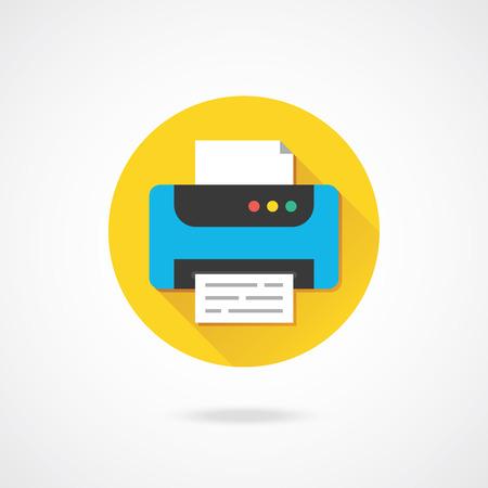 laser printer: Vector Printer Icon  Illustration