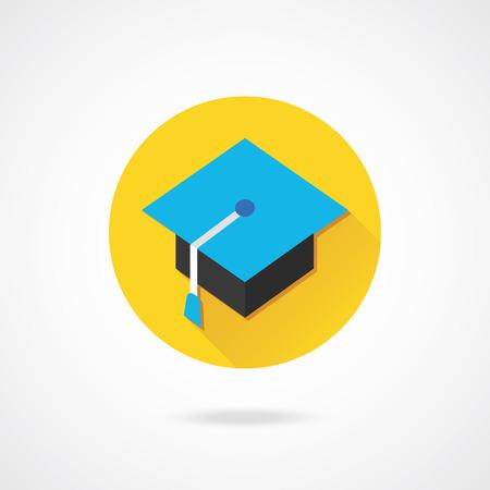 doctorate: Vector Professor Hat Icon