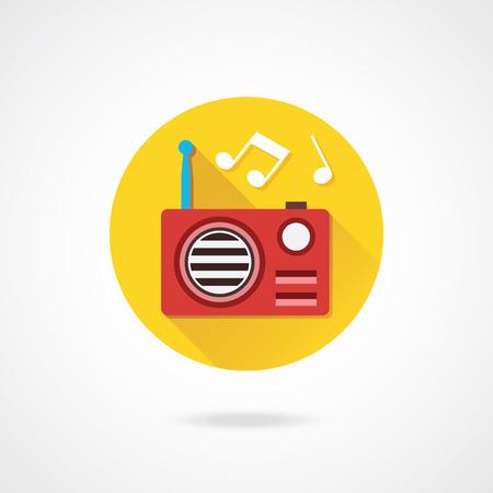 retro radio: Vector Radio Icon Illustration