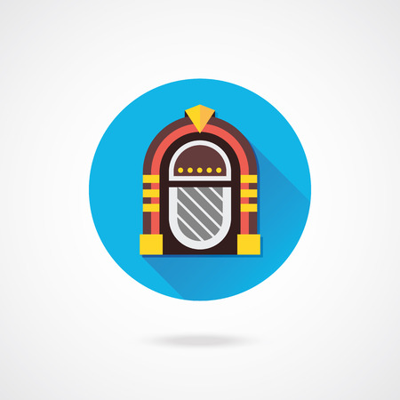 Vector Retro Jukebox Icon Vector