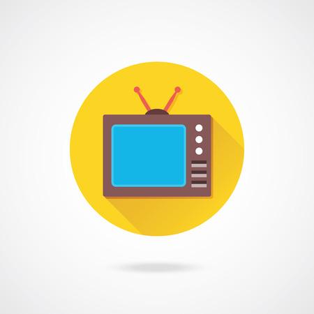 Vector Retro TV Icon  Vector