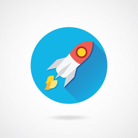 Vector Rocket Icon  Illustration