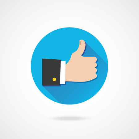 Vector Thumb Up Icon Stock Vector - 23348113