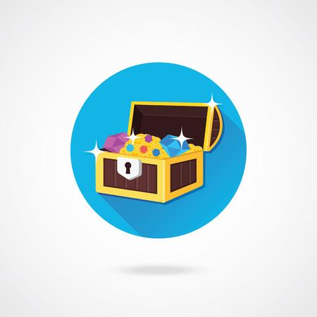 treasure box: Vector Treasure Chest Icon Illustration