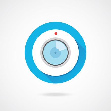 camera lens: Vector Web Camera Icon  Illustration