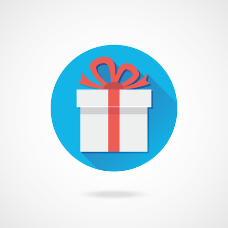 Vector Wei� Gift Icon