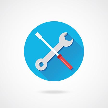 Vector sleutel en schroevendraaier Icoon