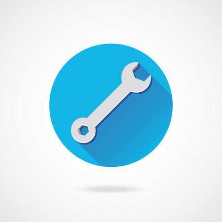 Vector Wrench Icon Stock Vector - 23348265