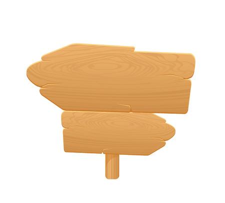 Wooden Arrow Board Icon Stock Vector - 23348266