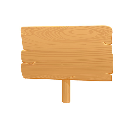 Wooden Board Icon On White Background2  Vector