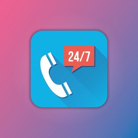 mobile operators: Vector Call Service Icon