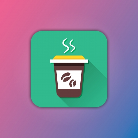 Vector Coffee Icon Stock Vector - 23348458