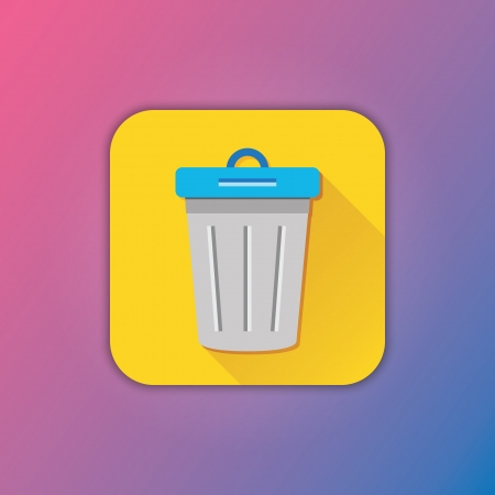 trashcan: Vector Dustbin Icon Illustration