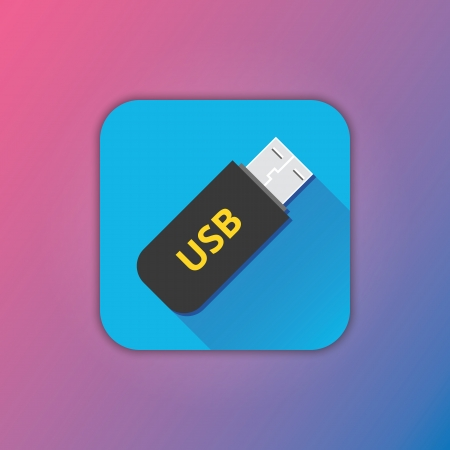 Vector Flash USB Drive Icon Stock Vector - 23348500