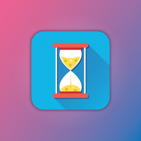 sand timer: Vector Hourglass Icon
