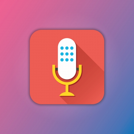 Vector Microphone Icon Vector