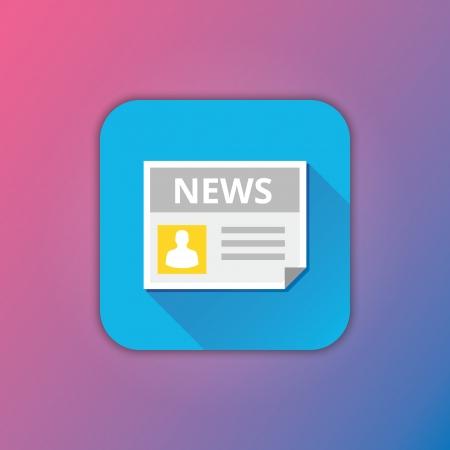 latest: Vector News Icon Illustration