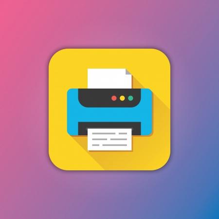 Vector Printer Icon Vector
