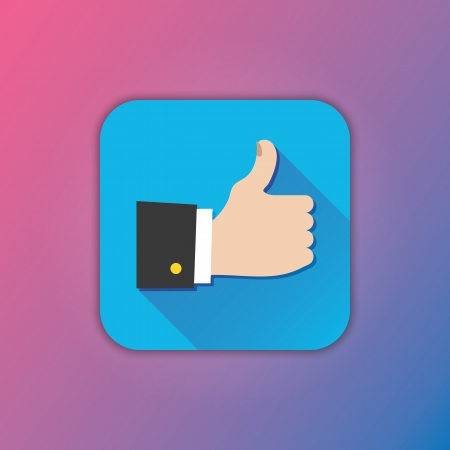 Vector Thumb Up Icon Stock Vector - 23348657