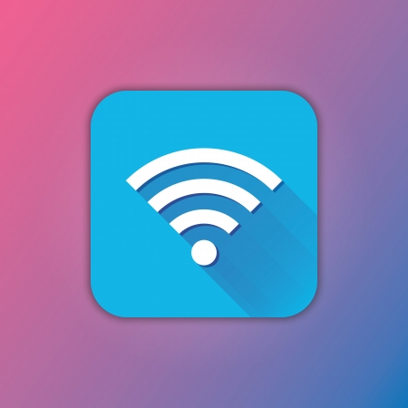 Vector Wireless Network Icon Stock Vector - 23348668