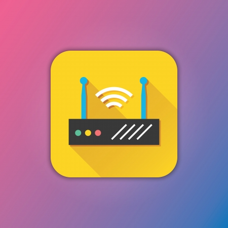 router: Vector Wireless Network Router Icon Illustration
