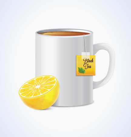 runny nose: Mug Of Tea With Lemon