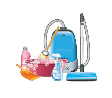 chores: Reiniging Stock Illustratie