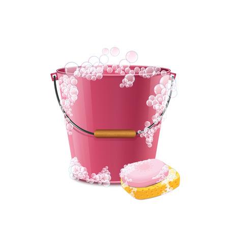 Soap Bucket2  イラスト・ベクター素材