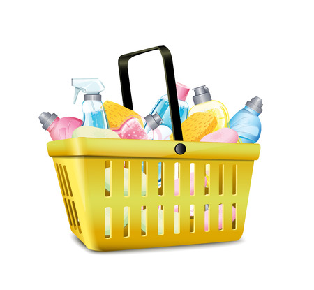 disinfect: Basket With Detergent