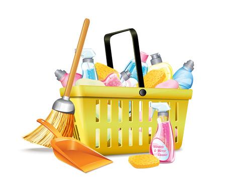 dishwashing liquid: Basket With Detergent2 Illustration