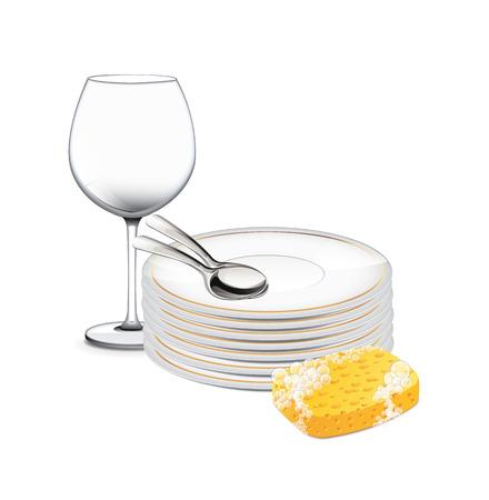lavar trastes: Limpie los platos
