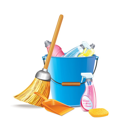 disinfect: Bucket With Detergents
